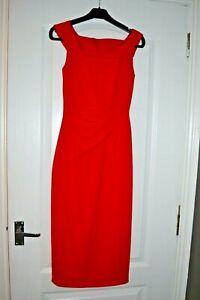 KAREN-MILLEN-Red-Dress-Size-6-Worn-ONCE