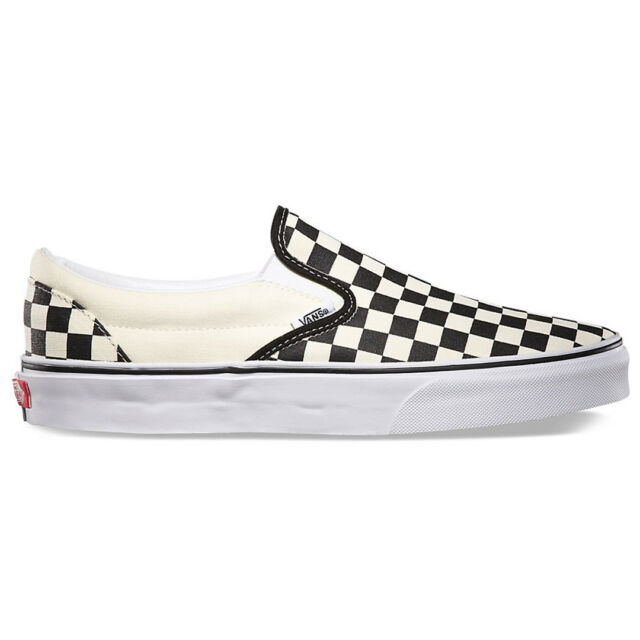 vans checkerboard shoes black white