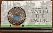 2015 RAM 50 cent UNC Coin - Australia at War - war in the pacific x 2 coins