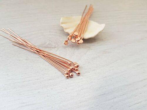 20 Genuine Copper Ball Head PinsMixed PackHandmade To Order