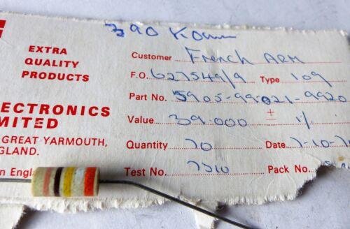 en el axial cerámica carcasa 390 kOhm 10x resistencia erie ca 1 W