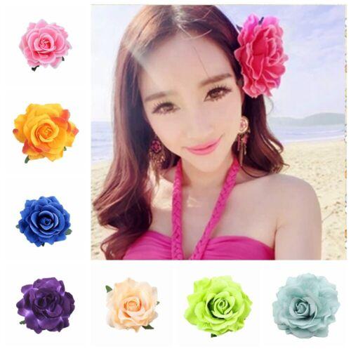 Beauty Rose Flower Bridal Hair Clip Hairpin Brooch Wedding Bridesmaid Headwear