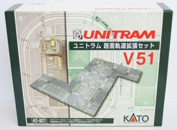 Kato 40-801 N-Scale UNITRAM Calle Rack Set Pista de cruce de expansión set V51