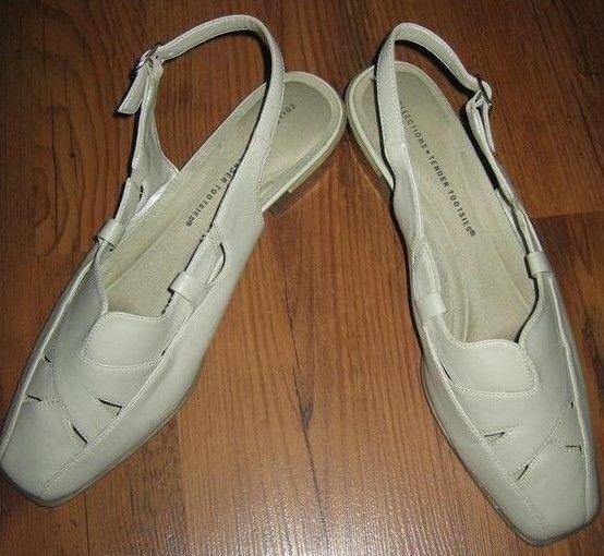 New COLLECTION TENDER Slingback TOOTSIES Women Leather Comfort Slingback TENDER Pump Shoe Sz 10 M 55f7dc