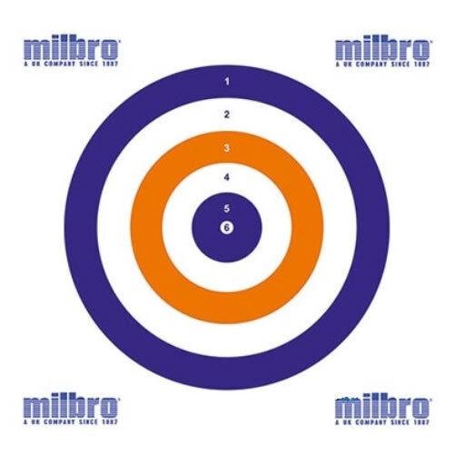 100 Milbro 14cm//17cm tout rond Airgun Objectifs-carte