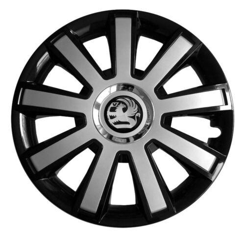 black//silver Set of 16/'/' Wheel trims hubcaps for Vauxhall Vivaro