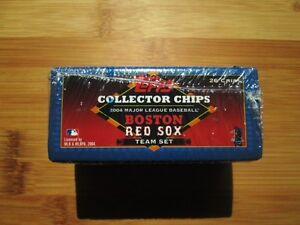 2004 Topps Baseball Collectors Chips Boston Red Sox TEAM SET