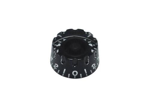 Ein Bell Knopf Potiknopf Knopf schwarz geriffelt zum Aufstecken INCH type