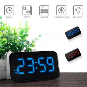 NEUF-Batterie-Numerique-Reveil-bureau-avec-affichage-LED-RETRO-ECLAIRE