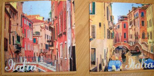 2sets paper napkins Italy,Rome,Pisa,canals Venice serviette,33cm-2pcs,decoupage
