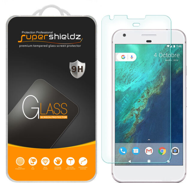 2x Supershieldz® Tempered Glass Screen Protector Saver For Google Pixel XL