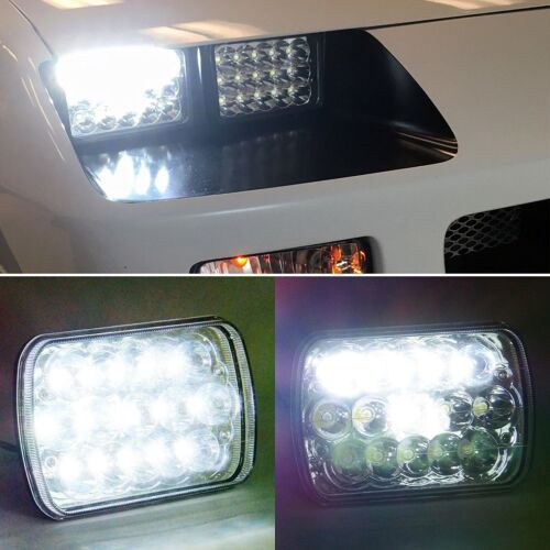 """For Freightliner Classic Truck 4/""""x6/"""" LED Headlight Clear Sealed Hi//Low Beam 4PCS"""