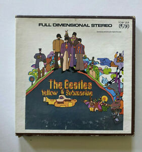 THE-BEALTES-Yellow-Submarine-Stereo-4-Track-Reel-to-Reel-Tape-Vintage