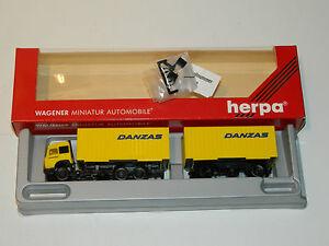 DANZAS-maquette-wagener-CAMION-REMORQUE-Herpa-140287-Iveco-TS-1-87-H0-truck-LKW