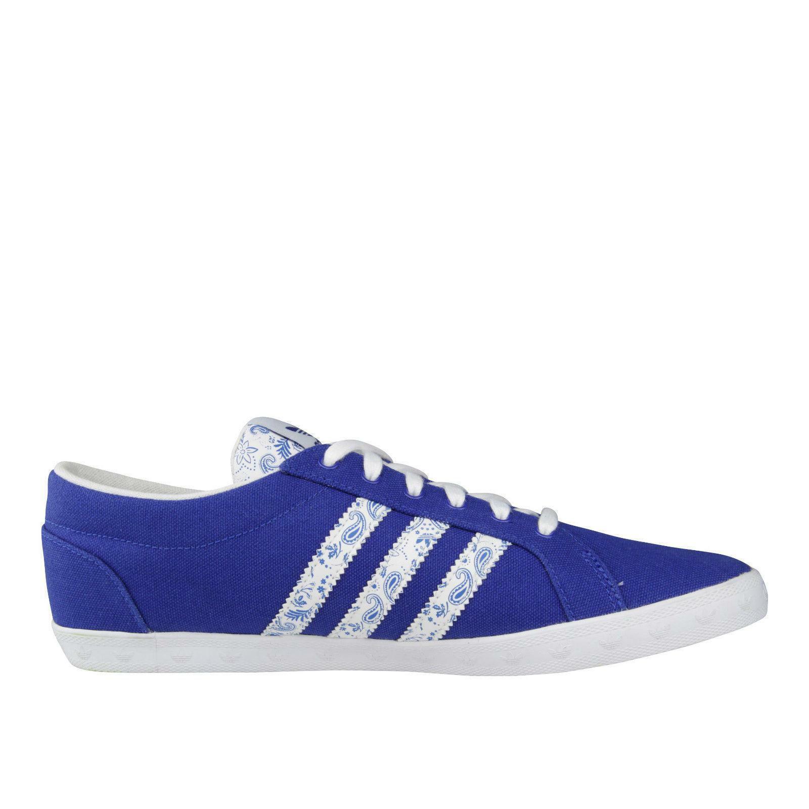 Adidas femmes Butter Flip Bas bleu Baskets Toile Q34349