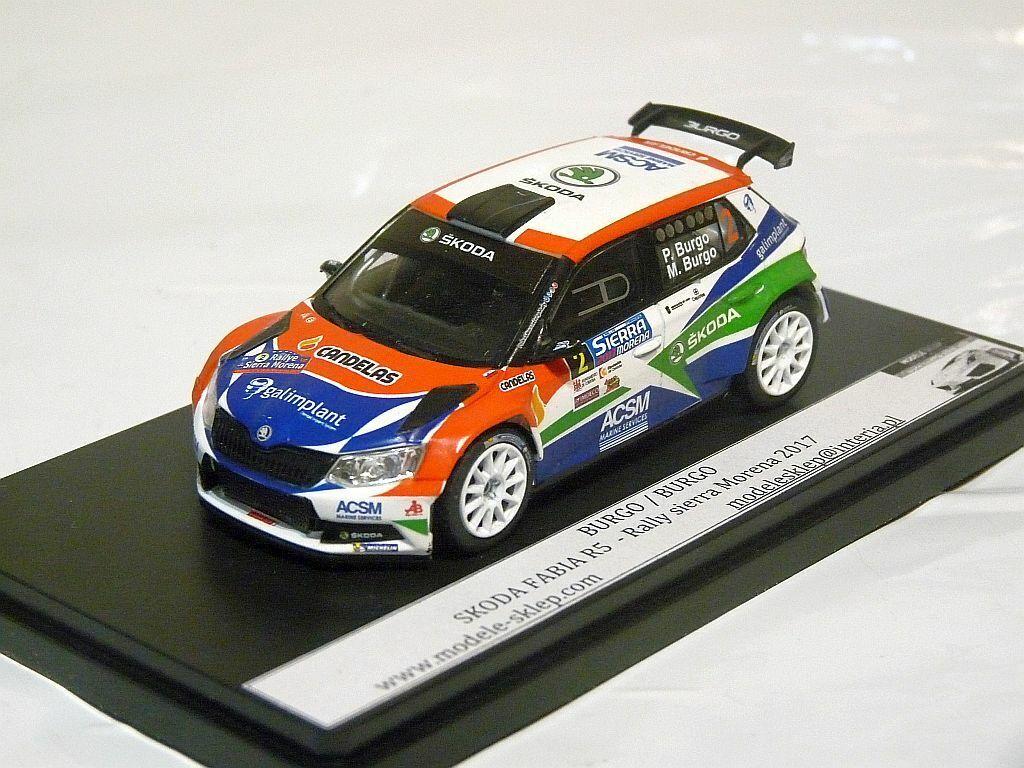 BURGO   BURGO SKODA FABIA R5  Rally Sierra Morena 2017 1 43 code3 rally model  100% livraison gratuite