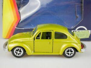 Gama-1-43-Volkswagen-VW-Escarabajo-1302-1970-72-verde-amarillo-oro-met-Beetle-box-110097