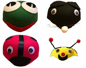 2x-Teeangers-Kids-Boys-Girls-Animal-Hat-Cap-Party-Costume-Lady-Bug-Frog-Bee-Mous