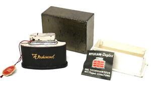 Vintage-Mylflam-Duplex-1000-Zuender-Tischfeuerzeug-mit-Werbung-OVP