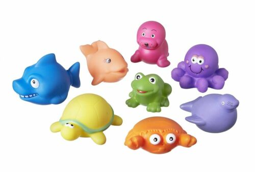 Nuby Squirters Bath Time Pack of 8 Toys