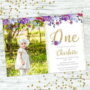 FIRST-BIRTHDAY-INVITATIONS-BOHO-1ST-BIRTHDAY-GIRL-PARTY-PERSONALISED-INVITES
