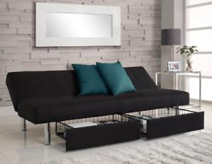 Pleasing Details About Futon Sofa Bed Convertible Sleeper Couch Full Size Twin Storage Drawers Black Inzonedesignstudio Interior Chair Design Inzonedesignstudiocom