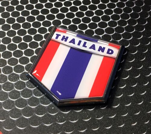 "Thailand Flag Domed CHROME Emblem Proud Flag Car 3D Sticker 2/""x 2.25/"" Thai"