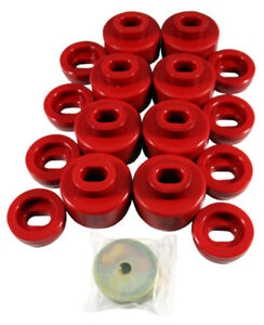 Details about 99-14 Chevy GMC 1500 2500 Truck Body Cab Mount Bushing Kit  Red Prothane 7-141