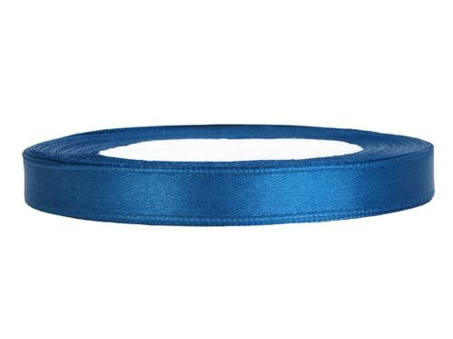 Satinband blau 6 mm 25 m Schleifenband Geschenkband Dekoband schmal