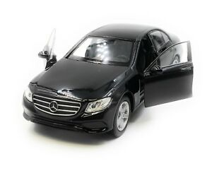 Voiture-miniature-MERCEDES-BENZ-e400-classe-E-Limousine-Black-auto-1-34-39-LGPL