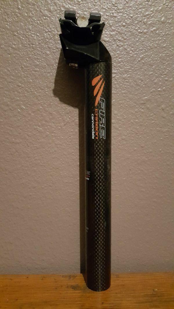 Cannondale Fire Carbon Fiber Seatpost - 31.6 x 250mm - 25mm offset.