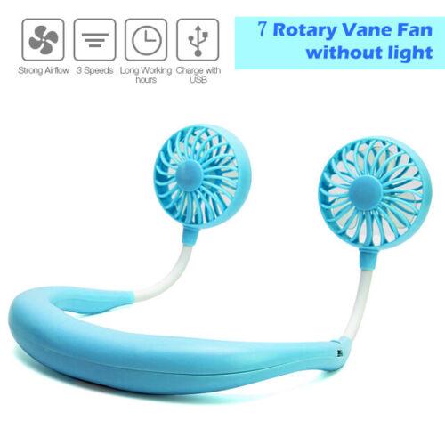 USB Portable Cold Fan Hands Free Neck Fan Hanging Rechargeable Mini Sports Fan