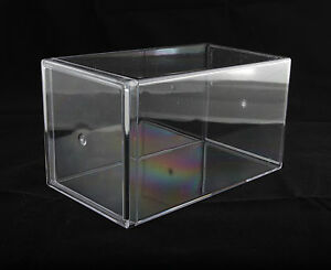 "** New **  Clear Plastic Acrylic Display Case Beanie Baby (4"" x 4"" x 7"")"