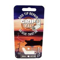 Grip Tip Fishing Rod Repair Glow In Dark Tip - No Glue - Twist On - White -