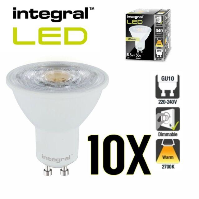 5 X Aurora Luna Lighting 240v GU10 6 W  COB LED Warm White Spot Lamp Light Bulb