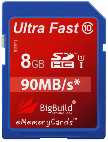 8GB Memory card for Nikon Coolpix L30 CameraClass 10 90MB//s SD SDHC New UK