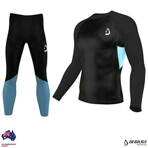 Mens-Compression-Pants-Shirt-Base-Layer-Skin-Tight-Set-Gym-Yoga-Fitness-Running
