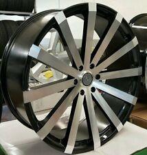 24 Inch Black Machine Face Elure 037 5x1143 Velocity Vw12 Rims Wheels Machined