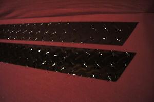 1997-2006 JEEP Wrangler TJ MATTE BLACK DIAMOND PLATE rocker covers WITH CUT OUTS