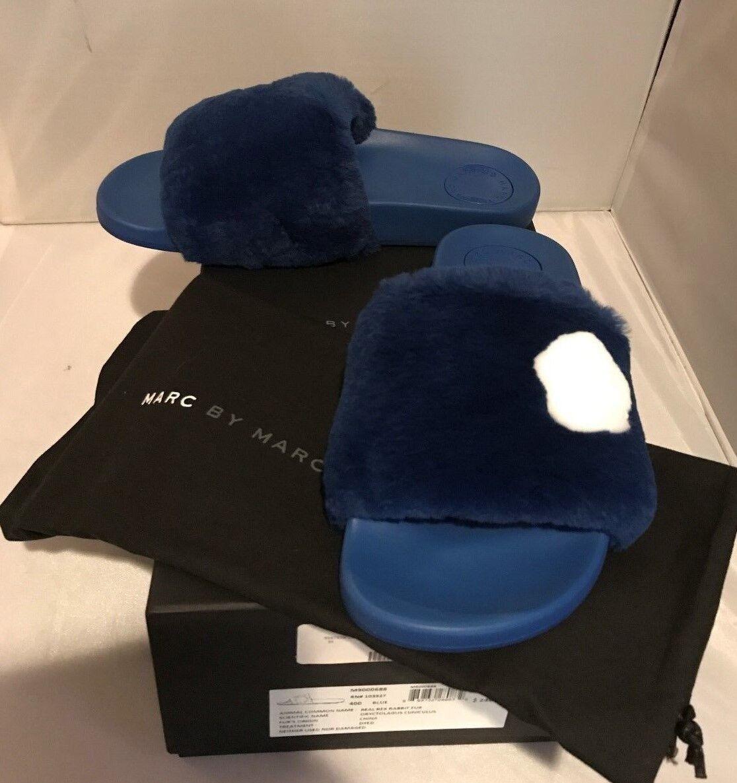 Nuevo En Caja  Marc By Marc Jacobs Wohombres Dot Piel diapositiva Sandalia-Azul-vendido e