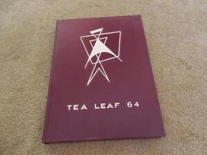 Vintage 1964 East Rutherford Nj High School Yearbook Tea Leaf New
