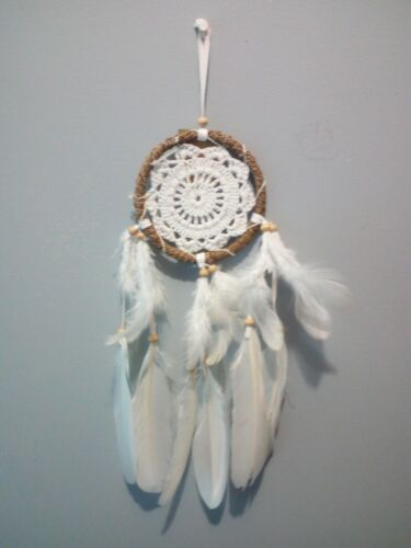 DREAM CATCHER WHITE HAND CRAFTED HOME DECOR WALL ART
