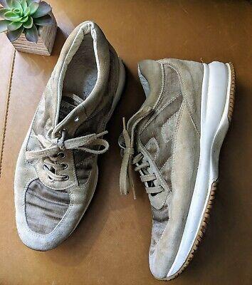 HOGAN women's 38 8 beige taupe cream walk suede platform sneakers athletic $495 | eBay