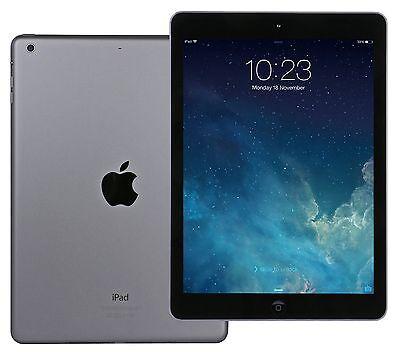 """Apple iPad Air Gray 9.7"""" Retina Display A7 32GB iOS Wi-Fi MD786LL LN"""