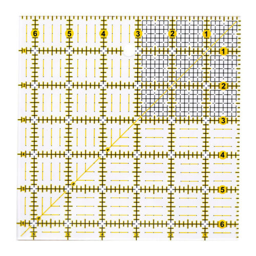 Art DIY Quilting Sewing Needle Patchwork Ruler Cutting Tailor Craft Slicer New