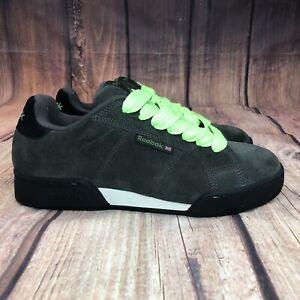Reebok-Nubuck-Suede-Skateboarding-Shoes-Men-Size-7-5-Athletic-Shoes-Green-NEW