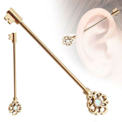 Populaire charme clé oreille Industrial Scaffold Barre Piercing Cartilage Body Jewelry