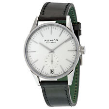 Nomos Zurich Datum Automatic White Dial Stainless Steel Mens Watch 802