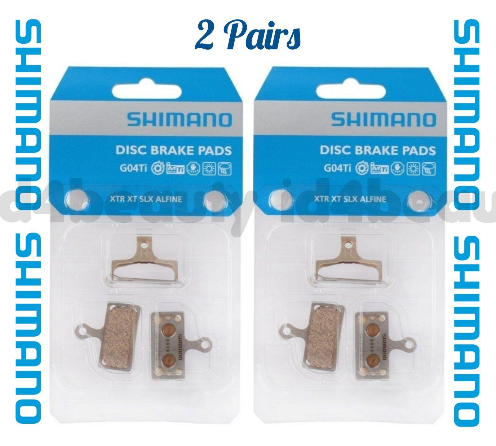 Shimano  G04Ti Metal Disc Brake Pad & Spring w Split Pin XTR BR-M9020 (2 Pairs)  100% authentic
