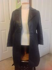 ZARA LEATHER 3/4 LENGTH COAT TRENCH SIZE L LARGE